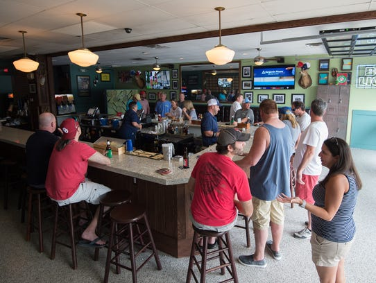 Customers begin to fill the new Dewey Beach Country Club in Dewey Beach last weekend.