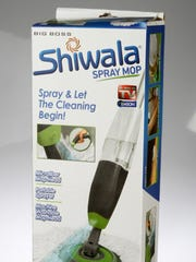 Shiwala Spray Mop claims the convenience of a portable sprayer and the dirt busting power of a spin mop. Available: Stores, online, TV.