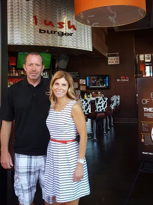 The new owners, Jay and Michelle Hoff, at Lush Burger in north Scottsdale.