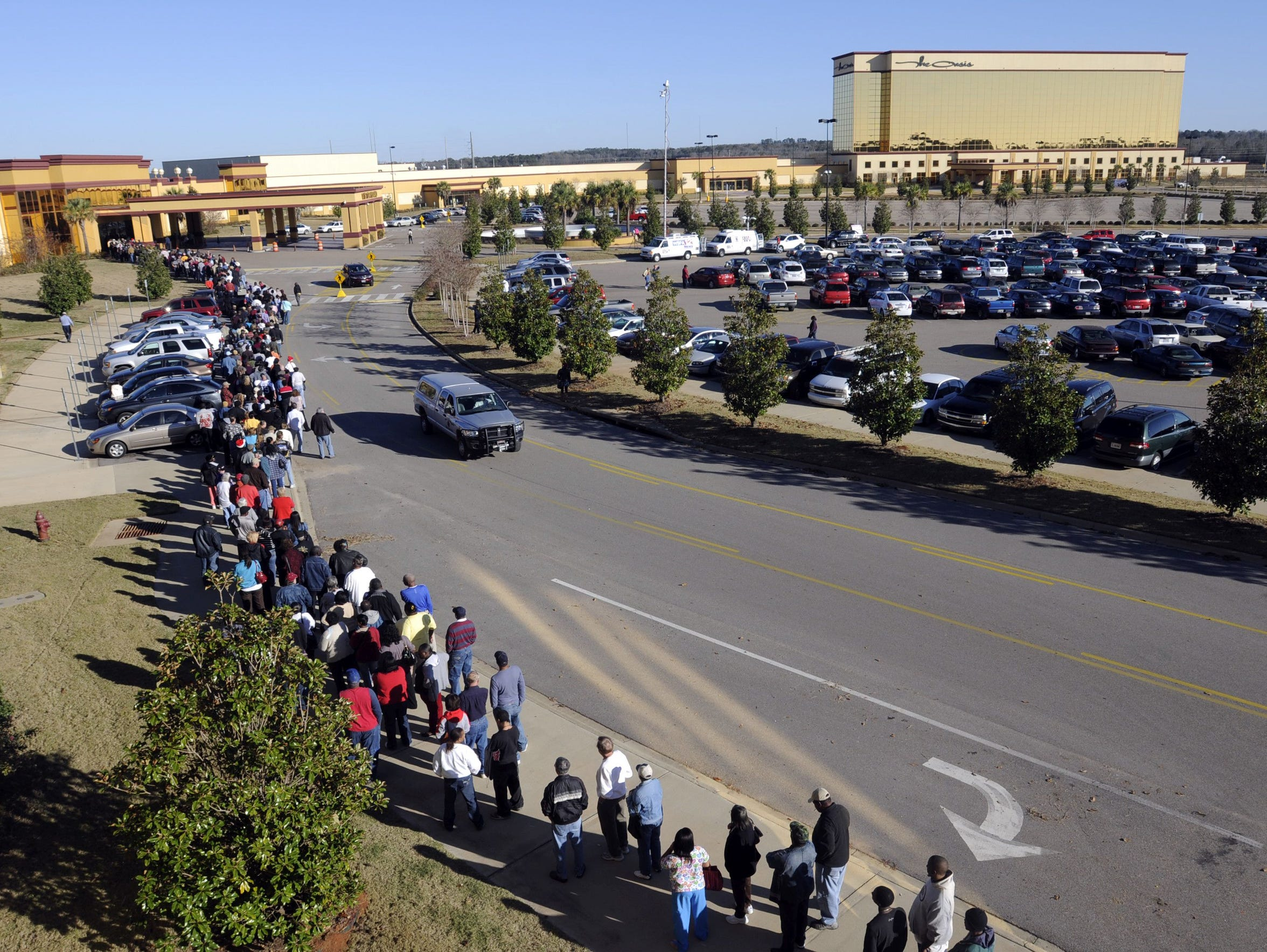 Hundreds line up to get inside VictoryLand in this