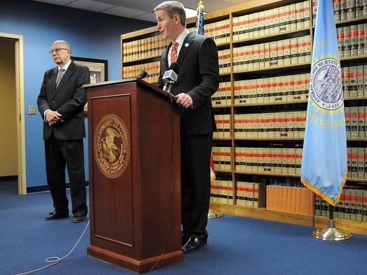 South Dakota U.S. Attorney Brendan Johnson speaks during