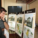 Potential homebuyers attend a kickoff event for the Harvest Village subdivision Thursday in Wellington. Hartford Homes plans to add 283 lots to the neighborhood in coming months.