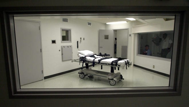 Alabama's lethal injection chamber at Holman Correctional Facility in Atmore, Ala., is shown on Oct. 7, 2002.