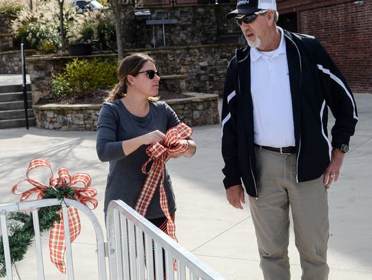 Danny McAlister, right, the city of Anderson's beautification