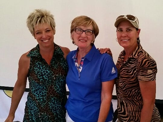 Pictured are President Kim LaGasse, Brenda Hawthorne and tournament chair Denise Bowers.
