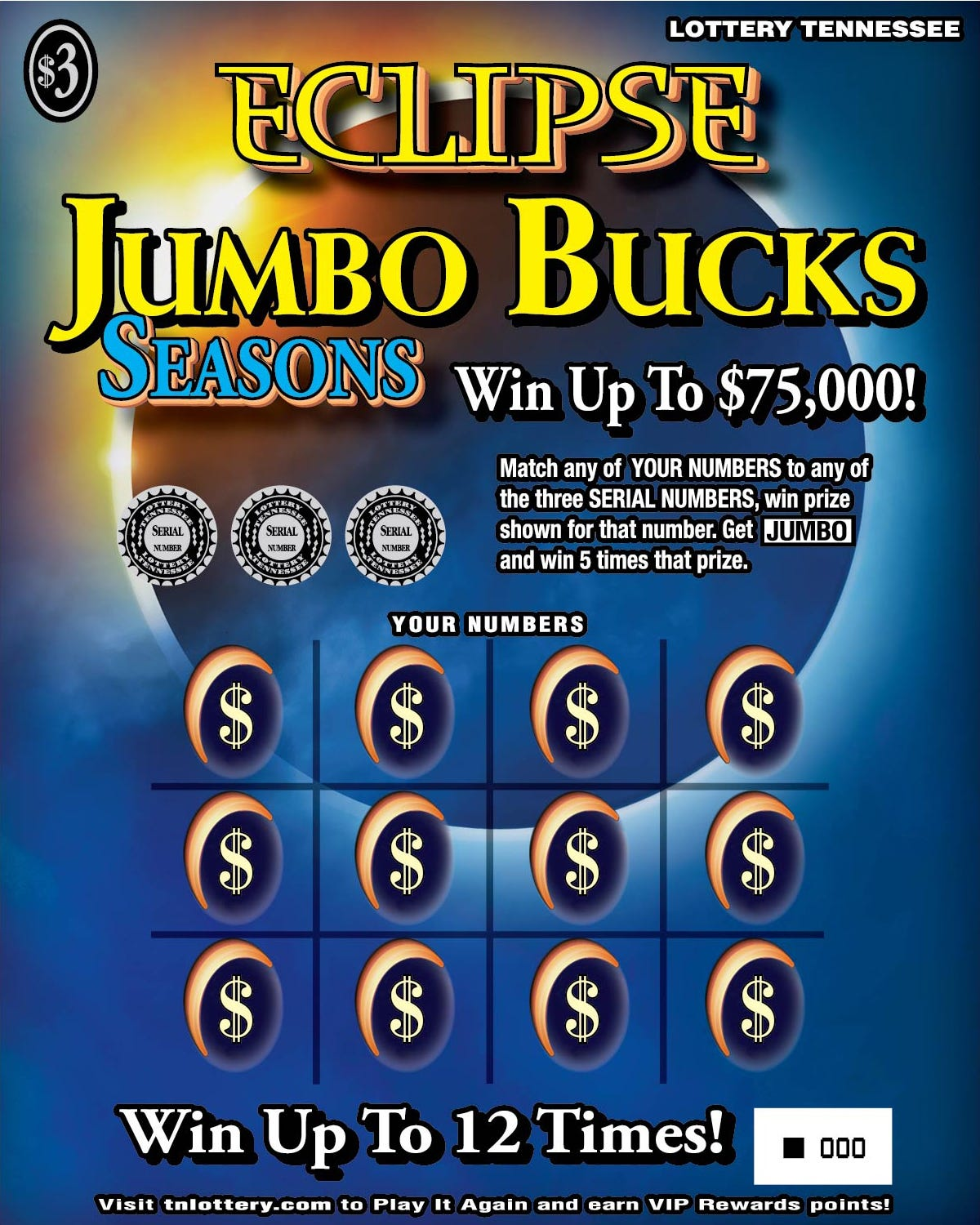 Tn lottery jumbo bucks prizes for adults