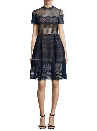 "Self Portrait ""Felicia"" embroidered midi dress, at shopbop.com"