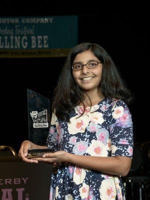 2016 Kentucky Derby Festival Spelling Bee winner Tara Singh.