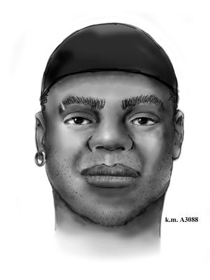 This is a drawing of what one of the suspects involved in the west Phoenix convenience-store robbery might look like.
