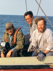 Robert Shaw, from left, Roy Scheider and Richard Dreyfuss