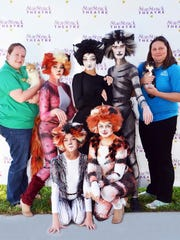 Cats and 'Cats: Back row, from left are Emily Recco,