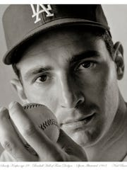 Neal Barr's photo of Sandy Koufax at age 28 ran in Sport's Illustrated in 1963.