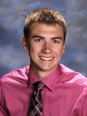 Maine-Endwell Central School District salutatorian Dean Plaskon.