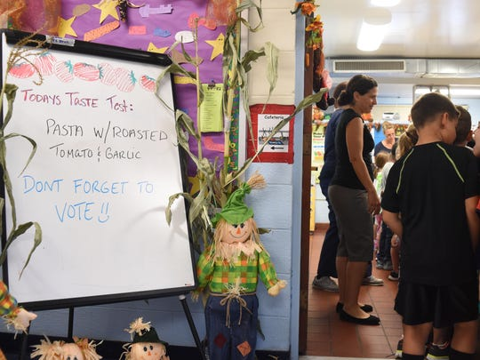 Students at Glenham Elementary School in Fishkill line