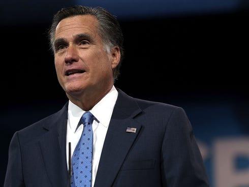 Mitt Romney was the 2012 Republican presidential nominee.