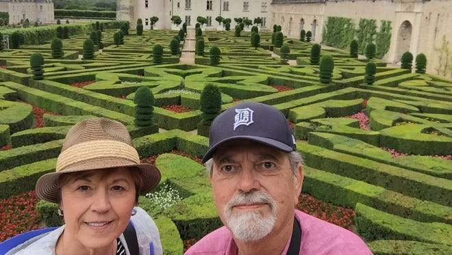 Pat and Mark Botkin from Rochester Hills took the D to the Villandry Gardens in France on July 11, 2016. On July 7, Mark turned 70 and they went on a trip to celebrate his birthday.