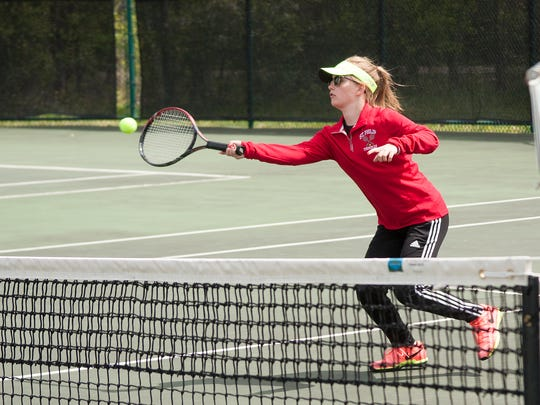 Alex Pessetti brings experience to the St. Philip tennis team.