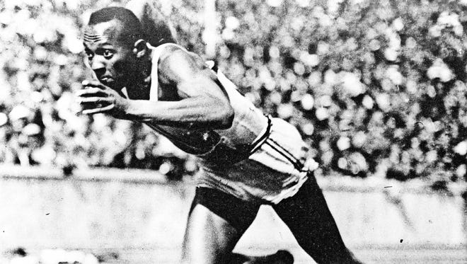 Jesse Owens competed at Drake in 1935, then won four gold medals at the 1936 Berlin Olympics.   (Photo by Hulton Archive/Getty Images)