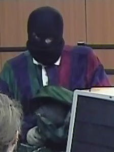 Police are looking for a suspect who robbed a bank on Congress Street Monday morning.