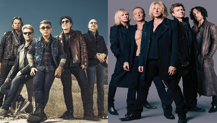 Journey (left) and Def Leppard will play Comerica Park