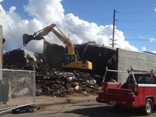 The Canteca Foods building in Redding was torn down