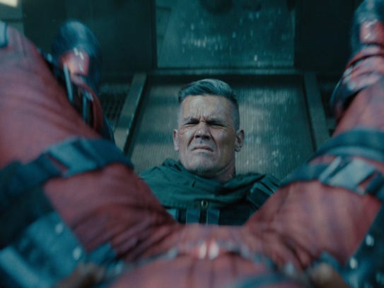 Josh Brolin plays a super-powered, metal-armed warrior