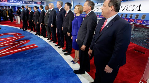 Just nine candidates on stage for Tuesday's debate. At this rate, we'll be down to four candidates by next October.
