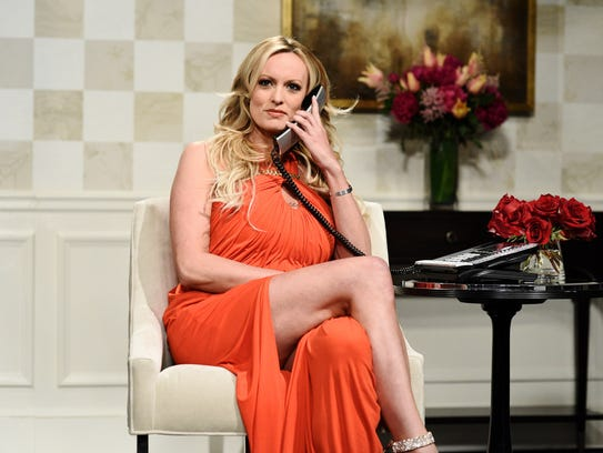 """Stormy Daniels on NBC's  """"Saturday Night Live,"""" New"""