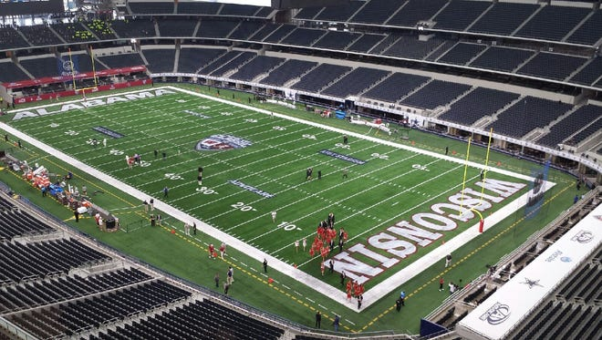 AT&T Stadium is the site of the seventh Advocare Classic between No. 3-ranked Alabama and No. 20 Wisconsin