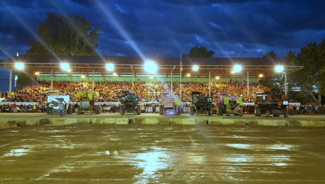 Seven drivers competed against each other in the combine derby Thursday night at the Fairfield County Fair.