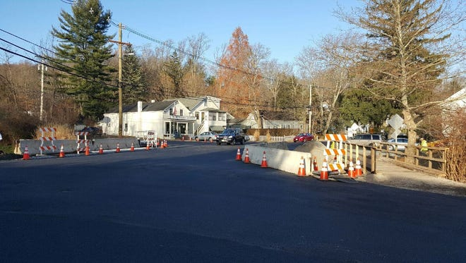 The Main Street Bridge in Mendham Township reopened Monday afternoon after contractors spent two weeks replacing the original span, erected in 1925 and renovated in 1977.