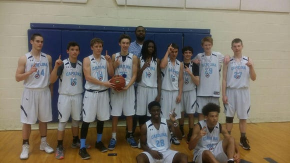 The Team Carolina-Asheville 16 and under boys basketball team won the Twin Cities Classic tournament last weekend in Asheville.