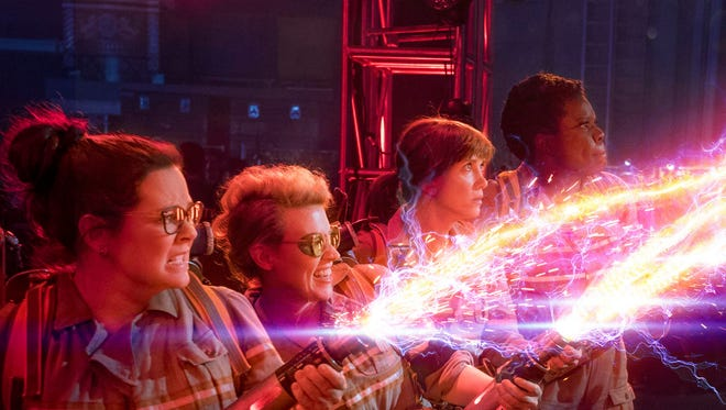 """The cast of the new """"Ghostbusters"""" gets to work."""