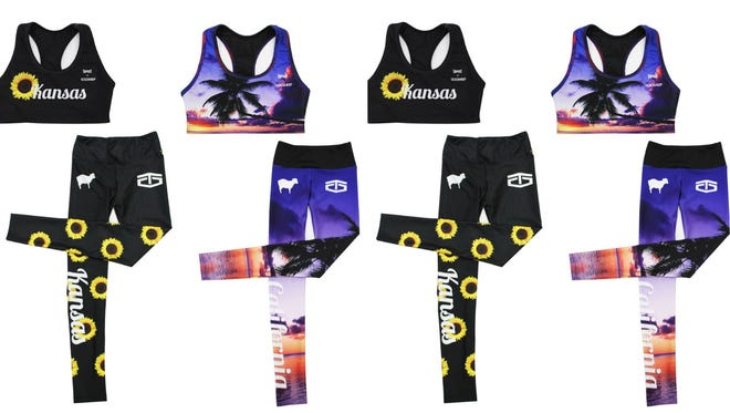 Each contestant will wear their state pride on their sleeves — er, leggings.