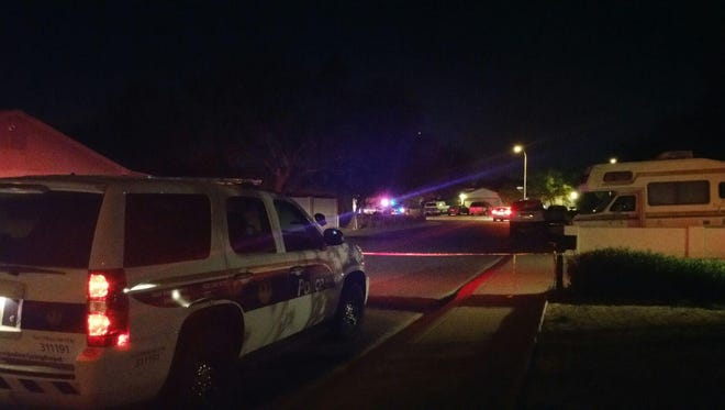 Police were investigating a shooting in a residential neighborhood near 75th Avenue and Camelback Road on Aug. 12, 2016.