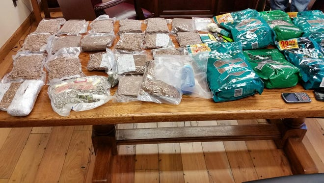 Some of the contraband confiscated by deputies.