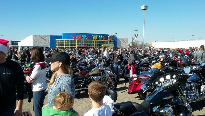 Hundreds of biker participated in the 24th Rolling Thunder Toy Run Sunday.