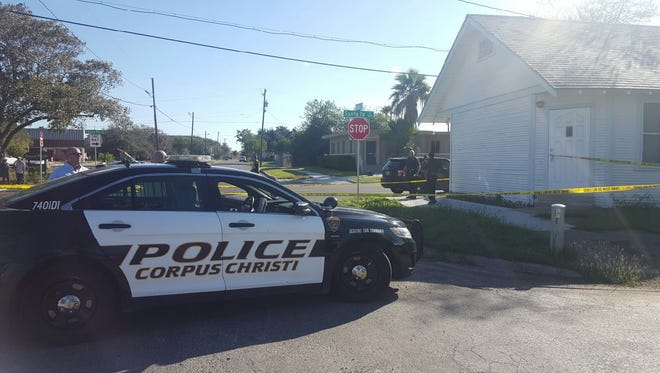 Corpus Christi police have blocked off an area at Santa Fe and Craig streets to investigate a shooting of a homeless man.