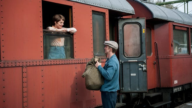"""A scene from """"A Man Called Ove"""" with Ida Engvoll and Rolf Lassgard."""