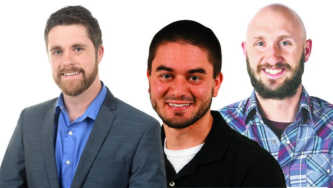 From left: Coloradoan sports editor Matt L. Stephens, prep sports reporter Kevin Lytle and former Xplore reporter Stephen Meyers. Not pictured: Former photo intern Chelsae Ketchum.