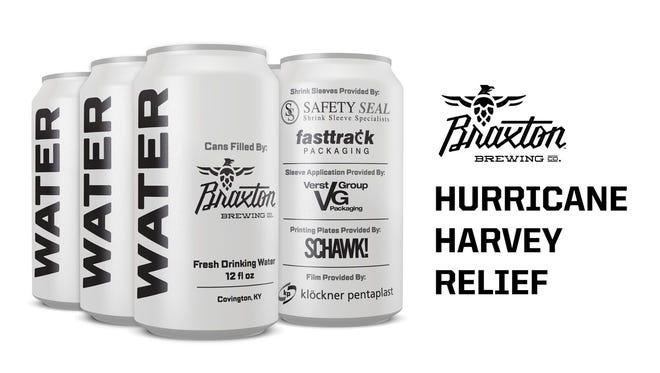 Braxton Brewing is canning water to help with Hurricane Harvey relief.