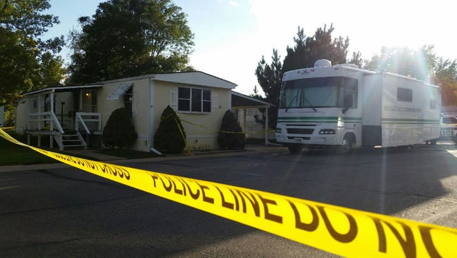 Fort Collins police investigate a suspicious death at a north Fort Collins mobile home park on Thursday, Oct. 5, 2017.