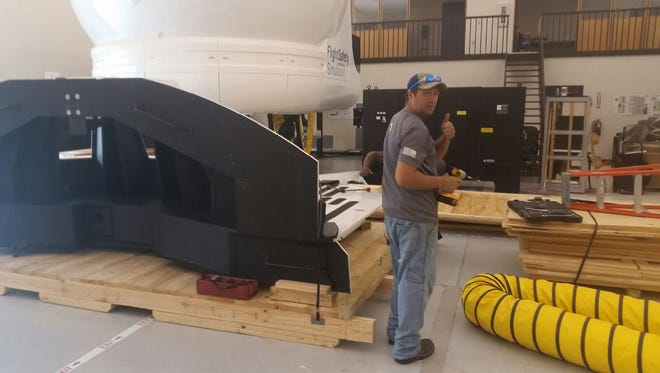 Craters & Freighters broke down, packaged and shipped this C-12 flight simulator, which is currently making its way across the country.