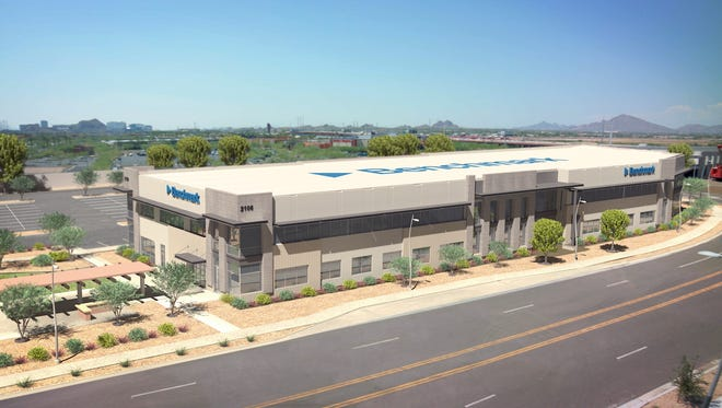 This rendering shows the future Tempe headquarters of Benchmark Electronics.