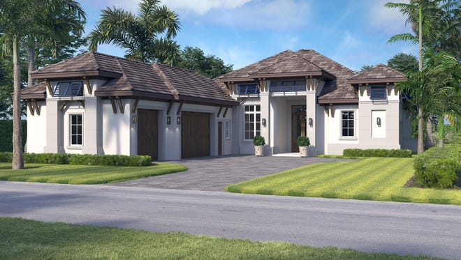 Seagate Development Group's furnished Tortola model under construction in Salerno 2 at Miromar Lakes Beach & Golf Club is on schedule for completion early next year.