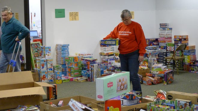 The Toys for Tots area had some 45,000 toys for donation.