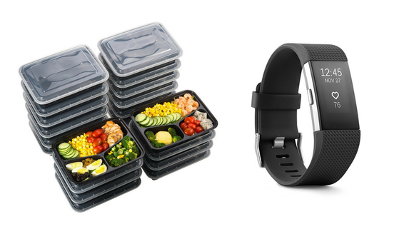 Fitbit and bento box
