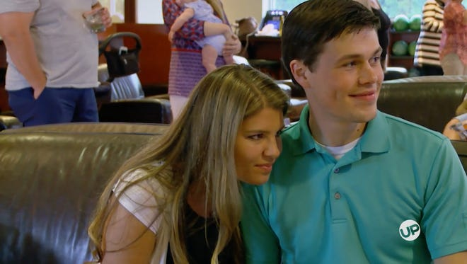 "Michaella and Brandon Keilen on an episode of ""Bringing Up Bates."""