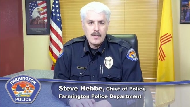 An image from a video released by the Farmington Police Department regarding a Jan. 4 accidental shooting by an FPD officer.