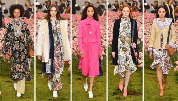 The models of Tory Burch on Friday.
